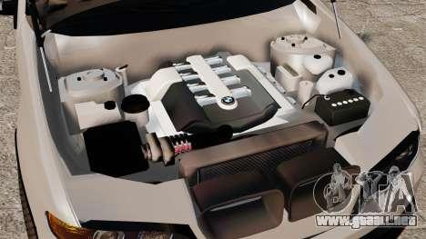 BMW X5 4.8iS v2 para GTA 4 vista hacia atrás