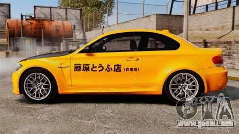 BMW 1M Coupe 2011 Fujiwara Tofu Shop Sticker para GTA 4 left