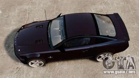 Ford Mustang Shelby GT500KR 2008 para GTA 4 visión correcta