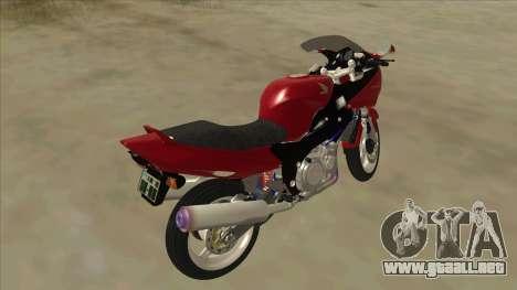 Honda CBR1100XX para GTA San Andreas vista posterior izquierda