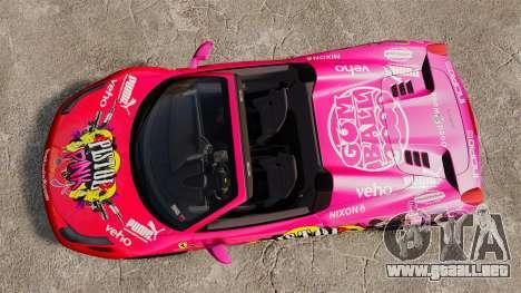 Ferrari 458 Spider Pink Pistol 027 Gumball 3000 para GTA 4 visión correcta