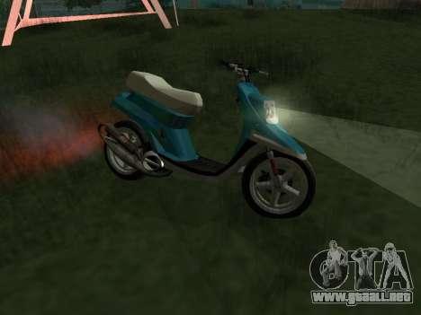 MBK Booster Spirit para GTA San Andreas left