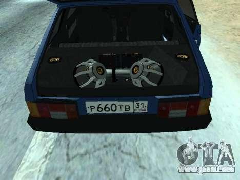 VAZ 2108 una docena azul para la visión correcta GTA San Andreas