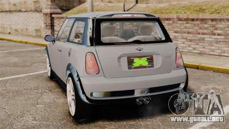 Mini Cooper S 2008 v2.0 para GTA 4 Vista posterior izquierda