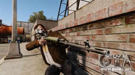 V3 de rifle de francotirador Dragunov para GTA 4 tercera pantalla