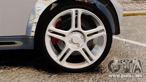 Mini Cooper S 2008 v2.0 para GTA 4 vista hacia atrás