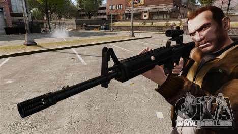 M16 A2 para GTA 4 adelante de pantalla