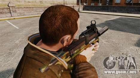 Belga FN P90 subfusil ametrallador v5 para GTA 4 segundos de pantalla
