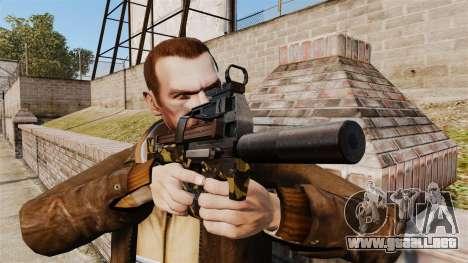 Belga FN P90 subfusil ametrallador v6 para GTA 4 tercera pantalla