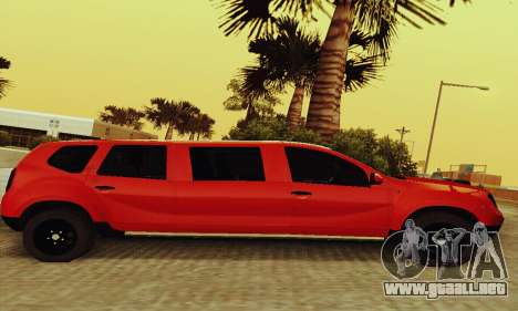 Dacia Duster Limo para GTA San Andreas vista posterior izquierda