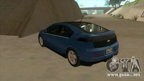 Chevrolet Volt 2011 [ImVehFt] v1.0 para GTA San Andreas vista hacia atrás