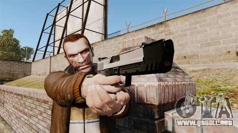 Pistola autocargable USP H & K v6 para GTA 4 tercera pantalla