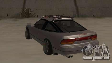 Nissan 240SX Rat para GTA San Andreas vista hacia atrás