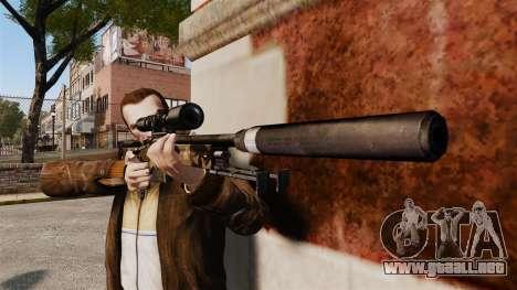 AW L115A1 rifle de francotirador con un v10 de s para GTA 4 tercera pantalla