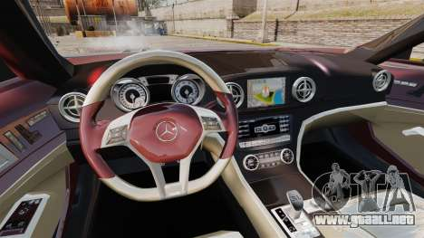 Mercedes-Benz SL500 2013 para GTA 4 vista interior