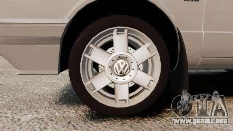 Volkswagen Citi Golf Velociti 2008 para GTA 4 vista hacia atrás