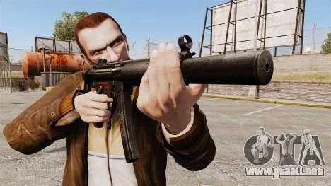 MP5SD subfusil ametrallador v5 para GTA 4