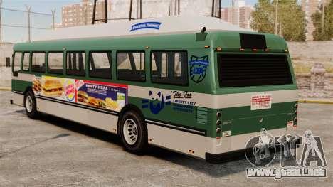 El anuncio nuevo en el autobús para GTA 4 left