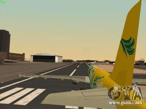 Airbus A320-211 Cebu Pacific Airlines para vista inferior GTA San Andreas