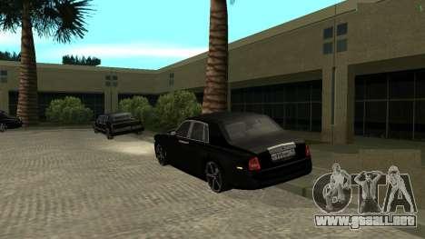 Rolls-Royce Phantom para GTA San Andreas vista posterior izquierda