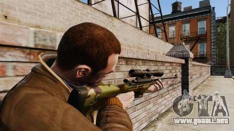 Rifle de francotirador Sako TRG-42 para GTA 4 segundos de pantalla