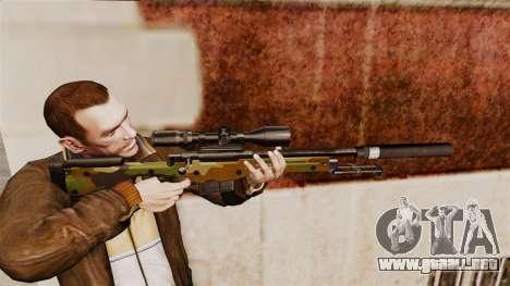 AW L115A1 rifle de francotirador con un v8 de si para GTA 4