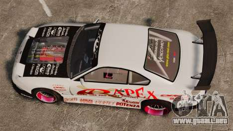 Nissan S330SX GT para GTA 4 visión correcta
