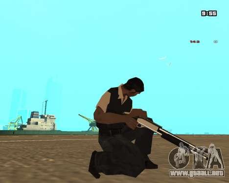White Chrome Shotgun para GTA San Andreas tercera pantalla