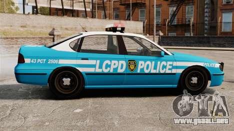 LCPD Police Patrol para GTA 4 left