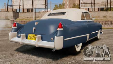 Cadillac Series 62 convertible 1949 [EPM] v3 para GTA 4 Vista posterior izquierda