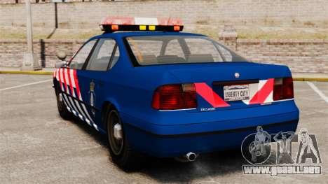 La policía militar holandesa para GTA 4 Vista posterior izquierda