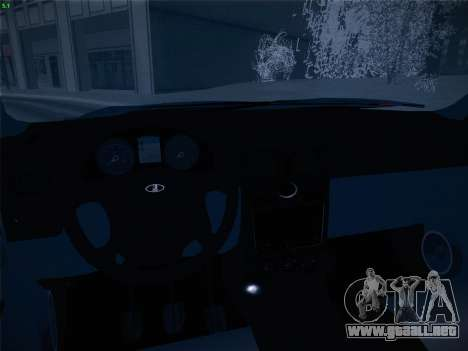 VAZ-2170 para la vista superior GTA San Andreas