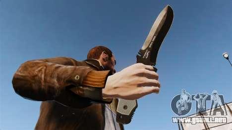 Cuchillo táctico v5 para GTA 4 tercera pantalla