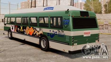 El anuncio nuevo en el autobús para GTA 4 visión correcta