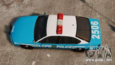 LCPD Police Patrol para GTA 4 visión correcta