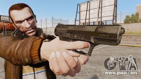 Walther P99 pistola semi-automática v4 para GTA 4 tercera pantalla