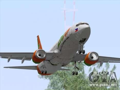 Boeing 737-800 Zest Air para visión interna GTA San Andreas