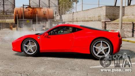 Ferrari 458 Italia 2010 Italian para GTA 4 left