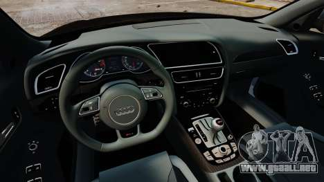 Audi RS4 Avant 2013 Sport v2.0 para GTA 4 vista interior