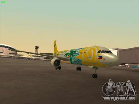 Airbus A320-211 Cebu Pacific Airlines para GTA San Andreas left