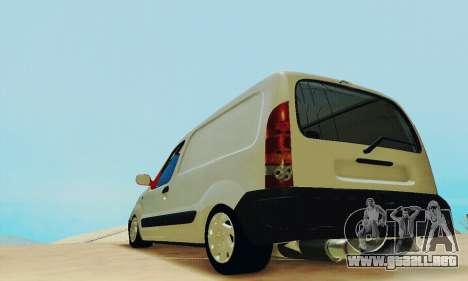 Renault Kangoo para GTA San Andreas vista posterior izquierda