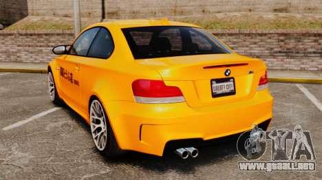BMW 1M Coupe 2011 Fujiwara Tofu Shop Sticker para GTA 4 visión correcta