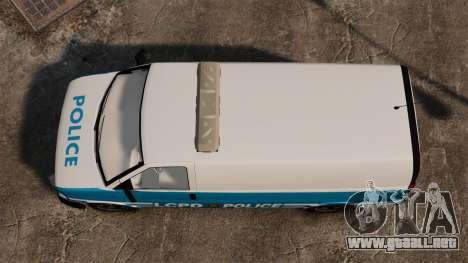 LCPD Police Van para GTA 4 visión correcta