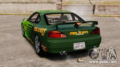 Nissan Silvia S15 v3 para GTA 4 Vista posterior izquierda