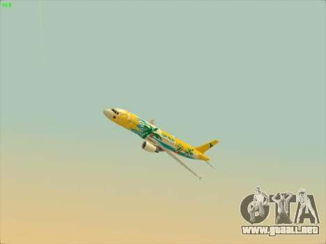 Airbus A320-211 Cebu Pacific Airlines para vista lateral GTA San Andreas