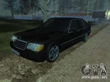 Mercedes-Benz w140 s600 para vista lateral GTA San Andreas