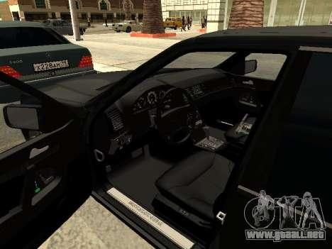 Mercedes-Benz w140 s600 para vista inferior GTA San Andreas