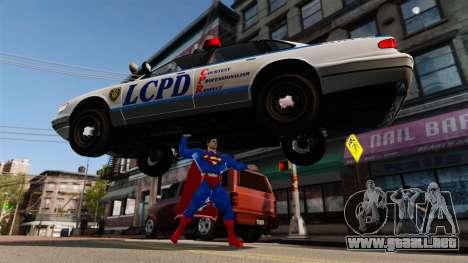 Guión de Superman para GTA 4 novena de pantalla