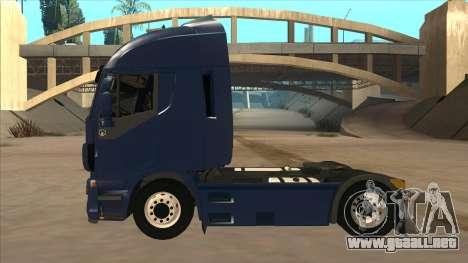 Iveco Stralis HI-WAY para GTA San Andreas vista posterior izquierda