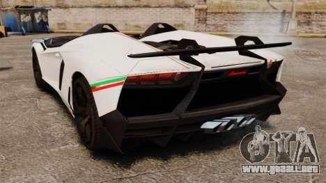 Lamborghini Aventador J 2012 Tricolore para GTA 4 visión correcta